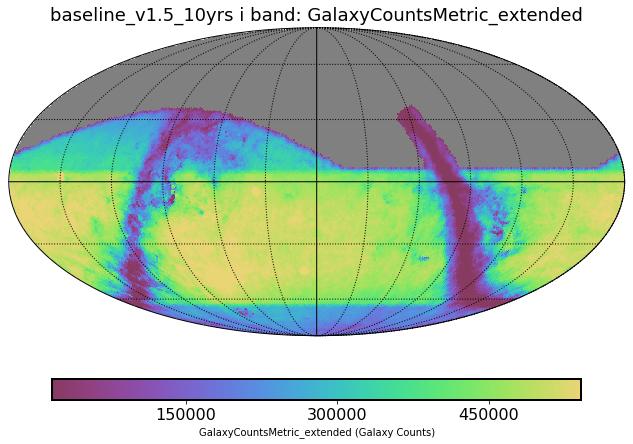 baseline_v1_5_10yrs_GalaxyCountsMetric_extended_i_band_HEAL_SkyMap